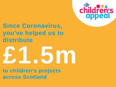 £1.5m raised for STV Children's Appeal Emergency Coronavirus Campaign