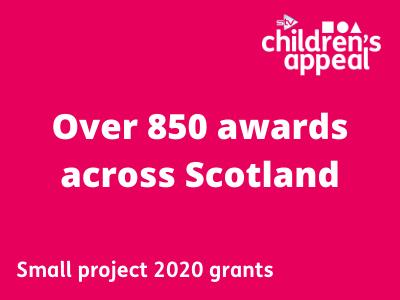 over 850 small awards made across SCotland