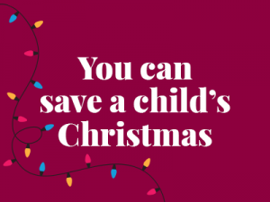you can save a child's christmas
