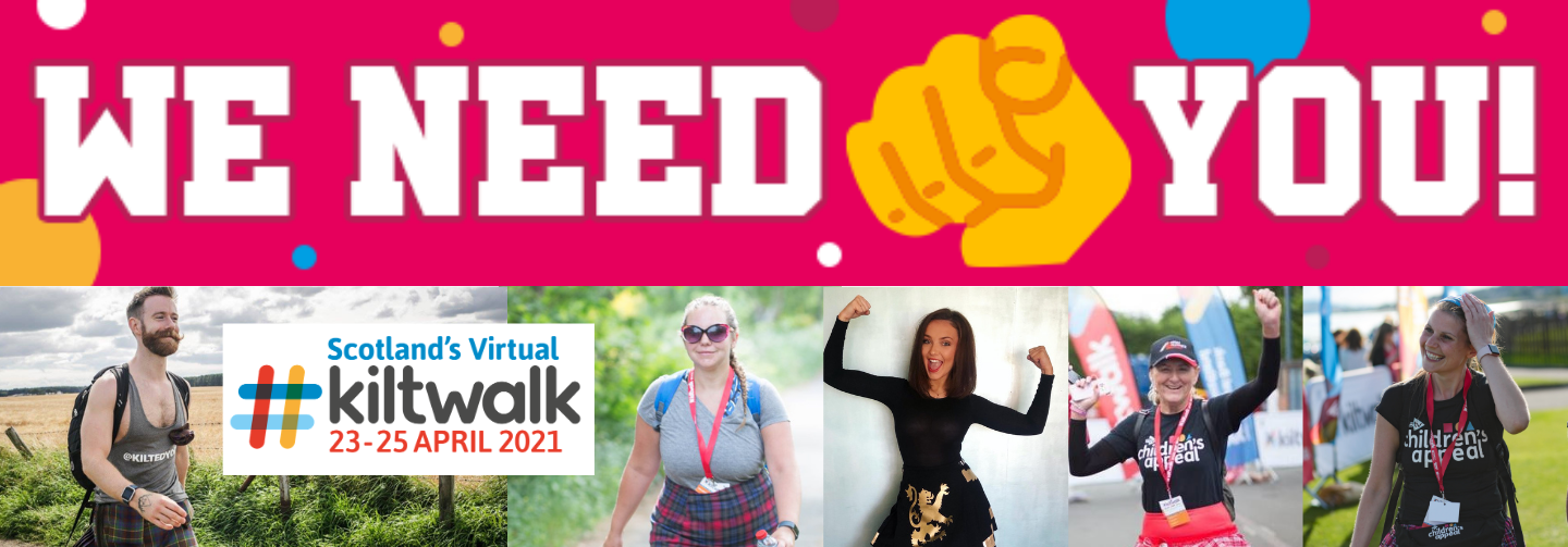 Sign up for Kiltwalk 2021