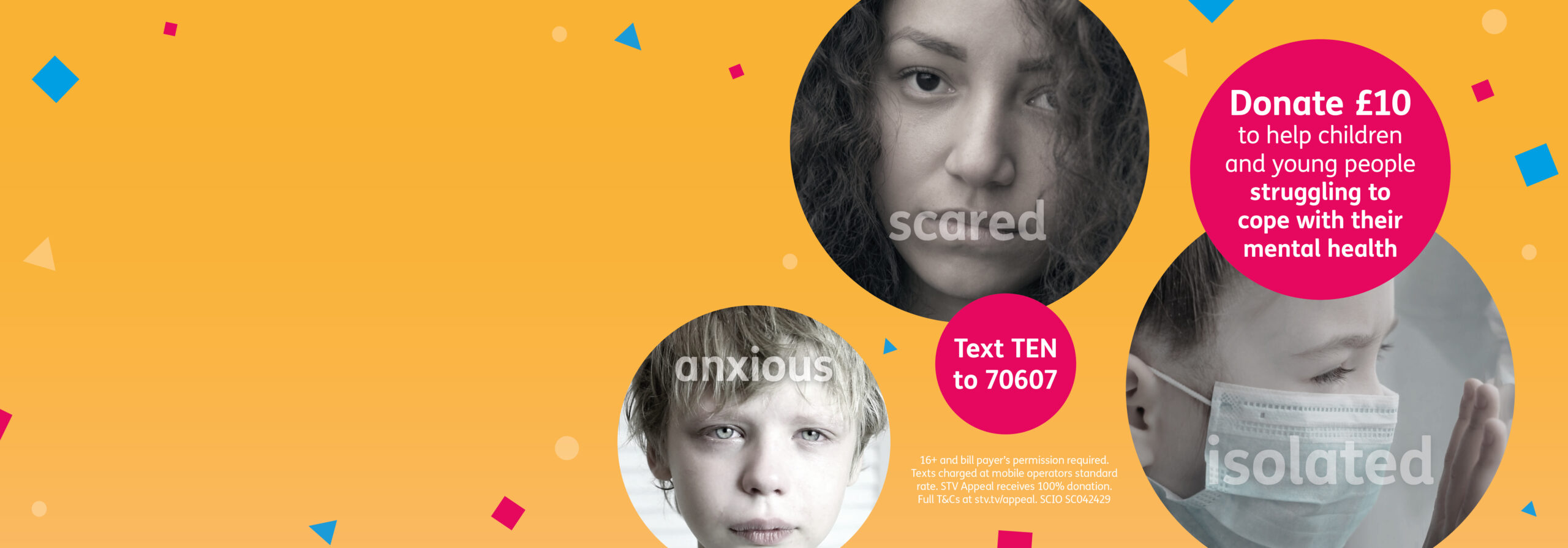 Donate £10 to help children cope with their mental health